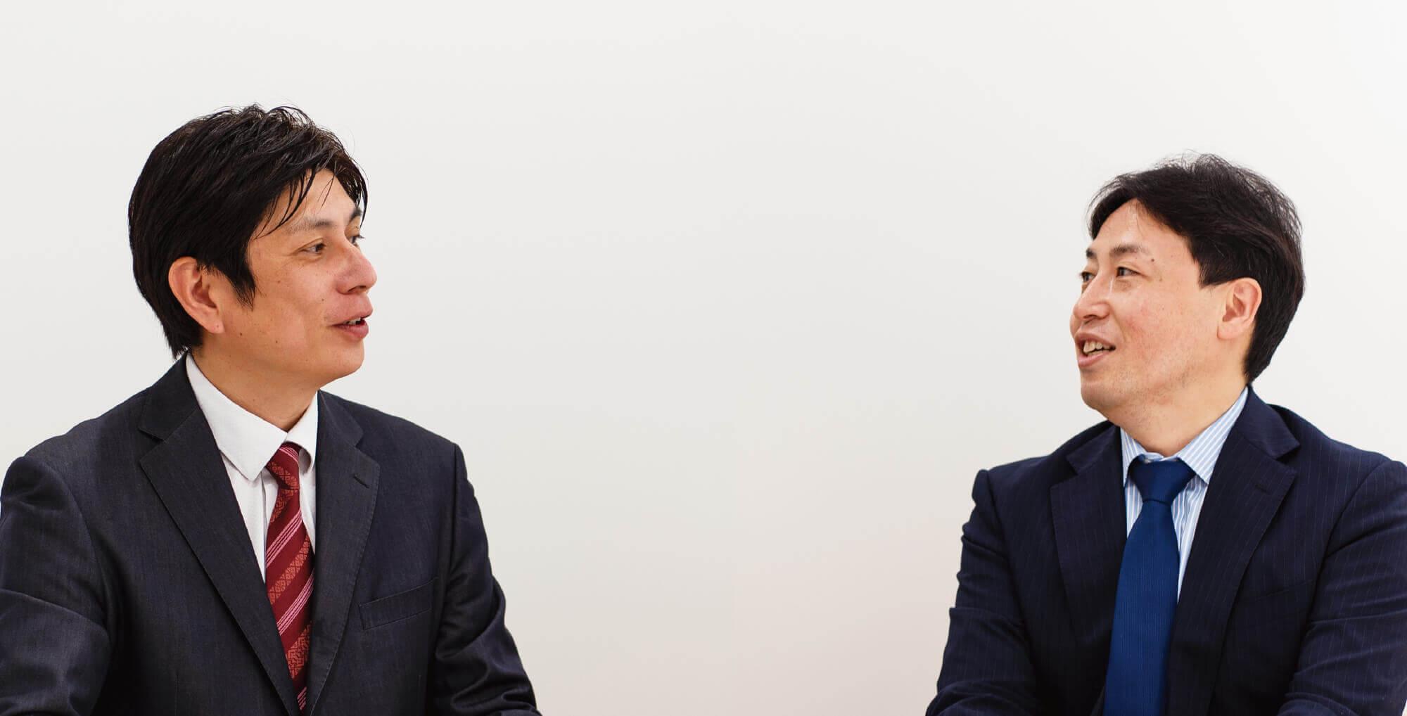 代表取締役会長 CEO 及川 智正 / 代表取締役社長 堀内 寛